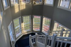Gracious architecturally designed stairwell to second floor